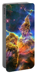 Space Image Mystic Mountain Carina Nebula Portable Battery Charger