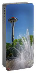 Space Needle In Seattle Portable Battery Charger