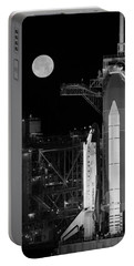 Space Shuttle Discovery On Launch Pad Portable Battery Charger