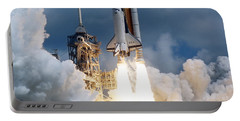 Space Shuttle Launching Portable Battery Charger by Stocktrek Images