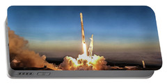 Spacex Iridium-5 Mission Falcon 9 Rocket Launch Portable Battery Charger