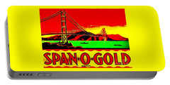 Portable Battery Charger featuring the painting Span O Gold Golden Gate Bridge by Peter Gumaer Ogden