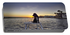 Spaniel At Sunset Portable Battery Charger