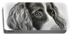 Spaniel Drawing Portable Battery Charger