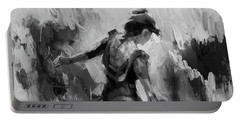 Portable Battery Charger featuring the painting Spanish Dance 7734j by Gull G