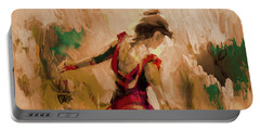 Portable Battery Charger featuring the painting Spanish Dance Culture  by Gull G