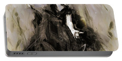 Portable Battery Charger featuring the painting Spanish Dancer 3400i by Gull G