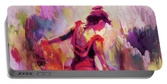 Portable Battery Charger featuring the painting Spanish Female Art 0087 by Gull G
