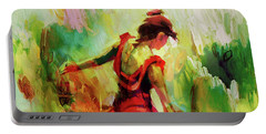Portable Battery Charger featuring the painting Spanish Female Art 56y by Gull G