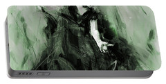 Portable Battery Charger featuring the painting Spanish Flamenco Dancer by Gull G