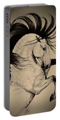 Spanish Horses Portable Battery Charger by Cheryl Poland