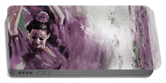 Portable Battery Charger featuring the painting Spanish Woman Dance  by Gull G