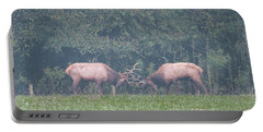 Sparking Elk On A Foggy Morning - 1957 Portable Battery Charger
