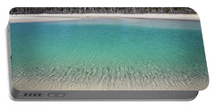 Sparkling Beach Lagoon On Deserted Beach Portable Battery Charger