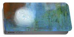 Portable Battery Charger featuring the painting Sparkling Sun-rays by Michal Mitak Mahgerefteh