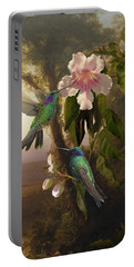 Sparkling Violetear Hummingbirds And Trumpet Flower Portable Battery Charger