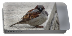 Portable Battery Charger featuring the photograph Sparrow by Angela DeFrias