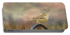 Sparrow In The Grass Portable Battery Charger