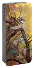 Portable Battery Charger featuring the painting Sparrow by Sherry Shipley