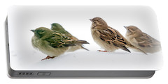 Sparrows In The Snow Portable Battery Charger