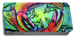 Portable Battery Charger featuring the painting Spawn by Viktor Lazarev