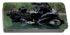 Special Forces Combat Diver Takes Portable Battery Charger