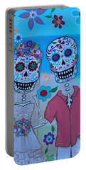 Portable Battery Charger featuring the painting Special Mexican Wedding by Pristine Cartera Turkus