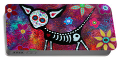 Portable Battery Charger featuring the painting Special Perrito by Pristine Cartera Turkus