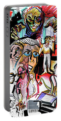 Portable Battery Charger featuring the painting special project 1B by John Jr Gholson