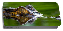 Spectacled Caiman Caiman Crocodilus Portable Battery Charger by Panoramic Images