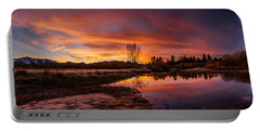 Spectacular Sunset On The River Portable Battery Charger
