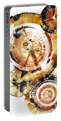 Portable Battery Charger featuring the painting Sphere Series 1020.050112 by Kris Haas
