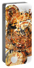 Portable Battery Charger featuring the painting Sphere Series 1021.050212 by Kris Haas