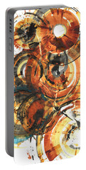 Portable Battery Charger featuring the painting Sphere Series 1022.050212 by Kris Haas