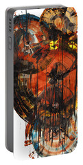 Portable Battery Charger featuring the painting Sphere Series 1023.050312 by Kris Haas