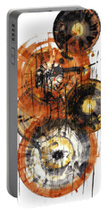 Portable Battery Charger featuring the painting Sphere Series 1028.050412 by Kris Haas