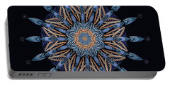 Portable Battery Charger featuring the digital art Sphinx Moth Pattern Mandala by Deborah Smith
