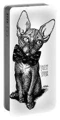Sphynx Drawing Portable Battery Charger