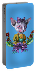 Sphynx Girl Portable Battery Charger