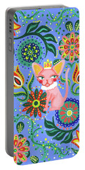 Sphynx Pattern Portable Battery Charger by Akiko Okabe