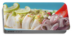 Spicy Food, Steamed Squid Portable Battery Charger