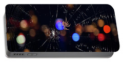 Portable Battery Charger featuring the photograph Spider by Joann Vitali