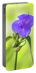 Spiderwort Wildflower Portable Battery Charger
