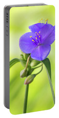 Spiderwort Wildflower Portable Battery Charger
