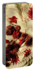 Spiked Nuts Red Portable Battery Charger