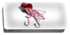 Spilled Candy Canes Portable Battery Charger