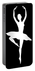 Spin Of Ballerina Silhouette Portable Battery Charger