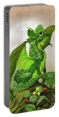 Spinach Dragon Portable Battery Charger by Stanley Morrison