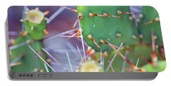 Spines Prickly Pear Cactus Portable Battery Charger by D Renee Wilson
