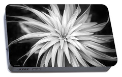 Portable Battery Charger featuring the photograph Spiral Black And White by Christina Rollo